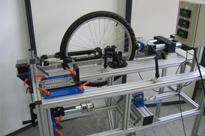 Static Test Bench - Security and Static Resistance on Fork, Wheel and Tyre